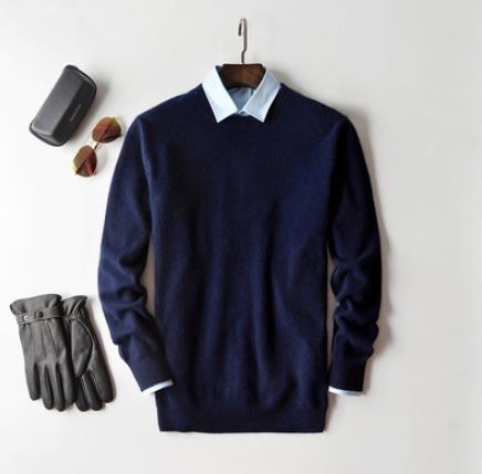 navy blue o-neck-XL