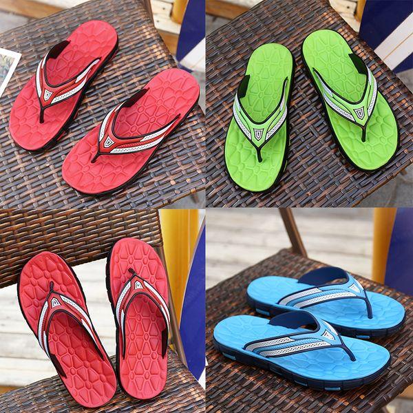 designer Sandals Rubber Slide Sandal Slippers Green Red blue Stripe Fashion Design Men Classic Summer Flip Flops Outdoor Summer beach Sandal