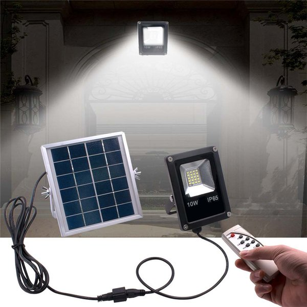 Waterproof Solar Floodlights 20W Remote Control with Timer Lighting Control Outdoor Lighting LED Spotlight Garden Lamp