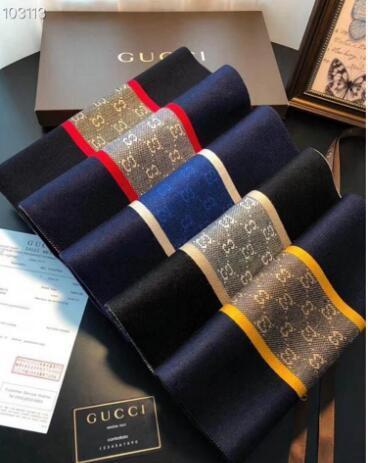 Nuevos hombres de gama alta de la bufanda de otoño / invierno de los hombres de boutique H bufanda el 180 * 30cm de buena calidad suave y lisa