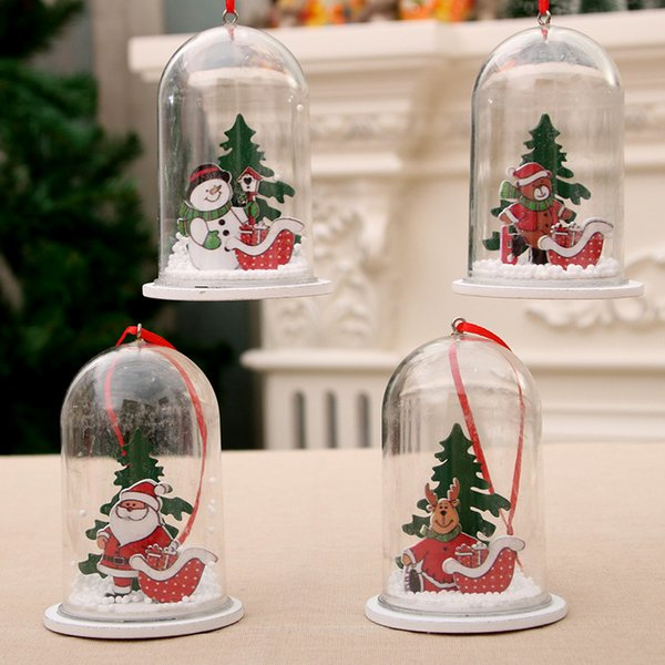 Clear Plastic Craft Ball Transparent Wooden Resin Christmas Pendant Ornament Party Supplies Christmas Tree Decoration