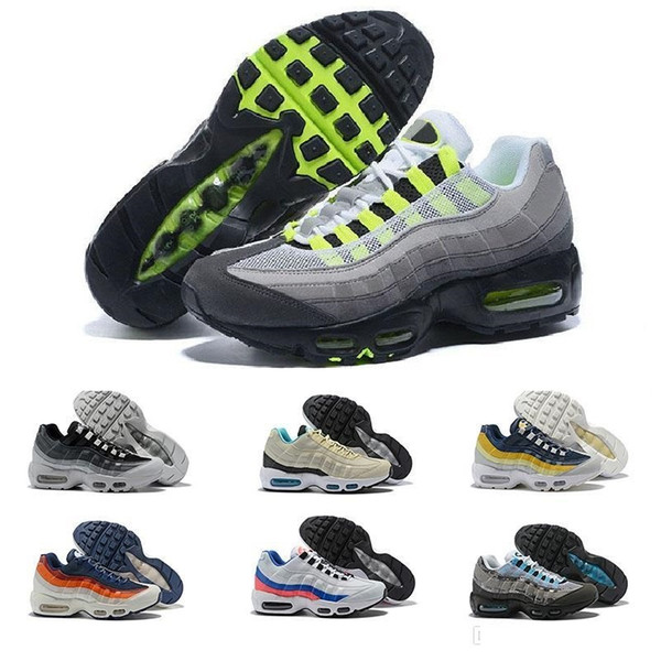 Acheter Nike Air Vapormax Max Off White Flyknit Utility Vapormax 95 D'anniversaire OG Chaussures Sports De Course Pour Hommes Formateur Tennis