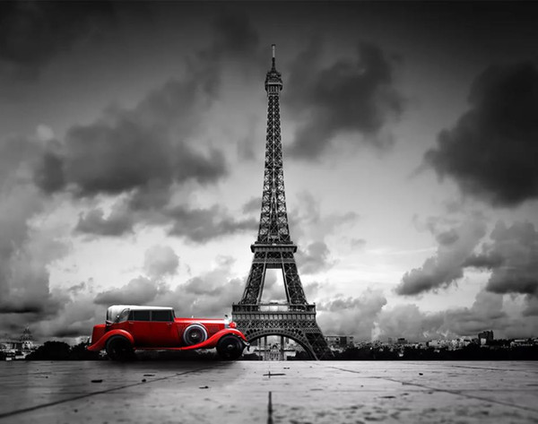 Tower black and white color car background wall wallpaper for walls 3 d for living room