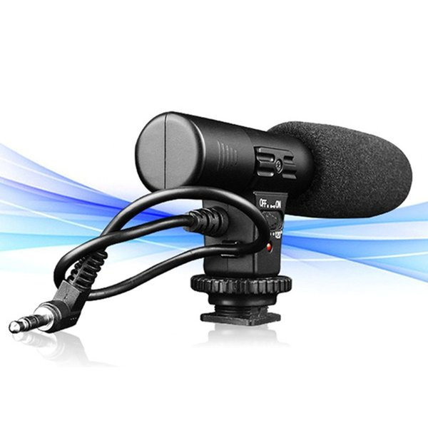 Sidande Mic-01 3.5mm Recording Microphone Digital SLR Camera Stereo Microphone for Canon Nikon Pentax Olympus