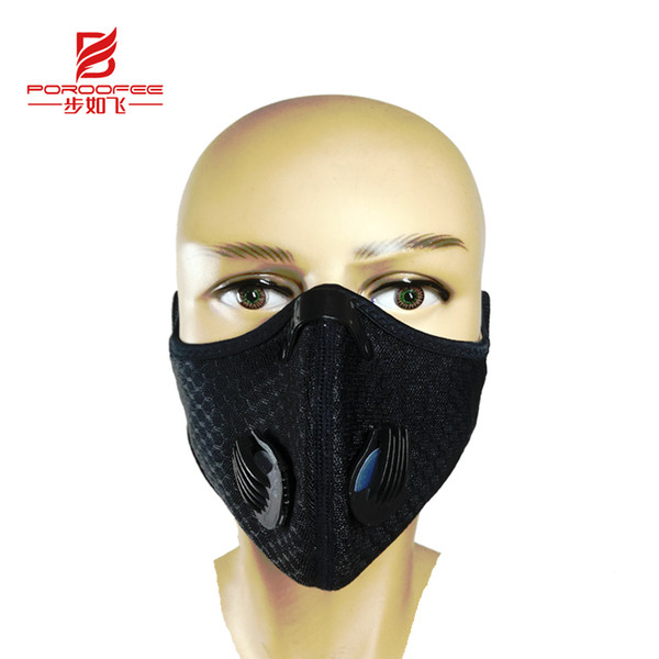 Anti-dust Cycling Face Mask Cover For Running Bike Bicycle Breathable PM 2.5 Protection Mouth-Muffle Ski Mask 5 Filter
