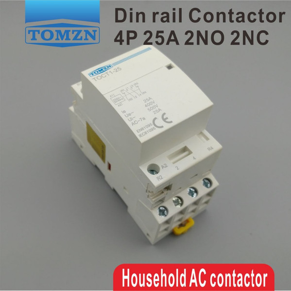 Contactors TOCT1 4P 25A 2NC 2NO 220V 230V 50 60HZ Din rail Household ac Modular contactor Contactors Home Improvement