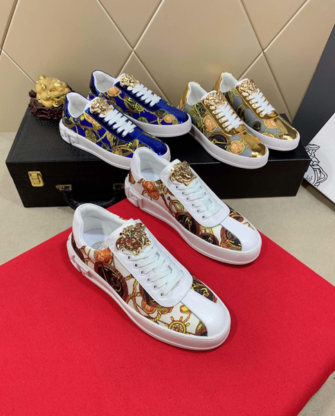 2019j fashion men's high-end handmade sports shoes casual shoes new, code 35-45, send a full set of original shoe box DHL logistics delivery