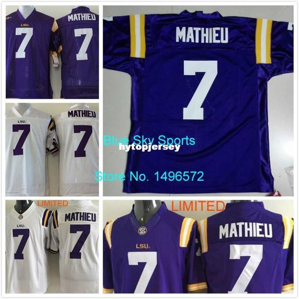 watch 7b112 577ef 2019 Factory Outlet LSU Tigers Jersey #7 Tyrann Mathieu Jersey White Purple  Stitched College Football Jersey From Hytopjersey, $19.61   DHgate.Com