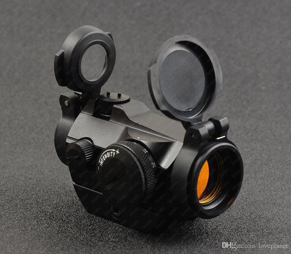 tactical micro 1x red dot sight scope with 20mm picatinny rail mount base lens cover shockproof bk R7482