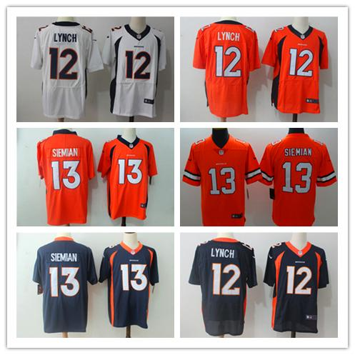 low priced 67c45 42623 2018 2019 New Mens 12 Paxton Lynch Denver Broncos Jerseys 100% Stitched  Embroidery Broncos Trevor Siemian Color Rush Football Jersey Best Quality  From ...
