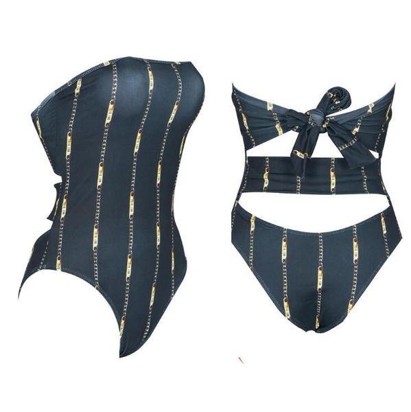 100% autentico 74744 b662d Acquista Nuova Vendita Calda! 2019 Petto Fasciato A Vita Alta Strisce  Verticali Bikini Costume Intero Costume Da Bagno Delle Signore Sexy A  $24.13 Dal ...