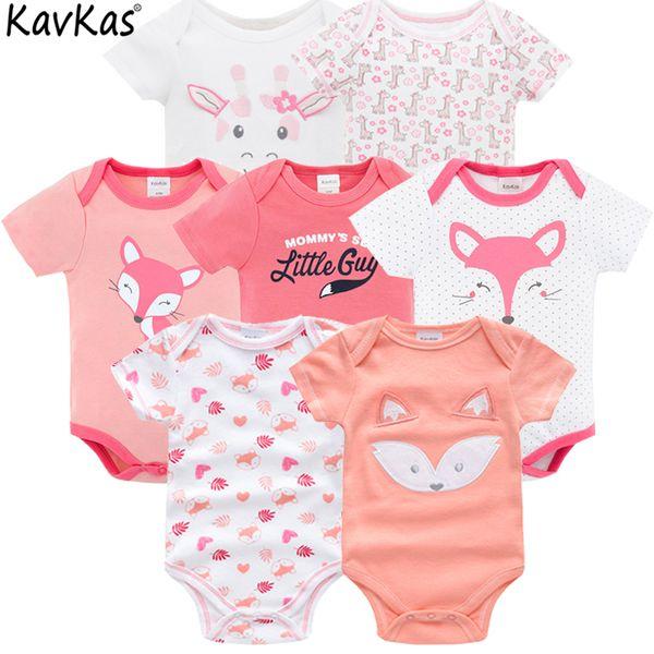 Summer Brands Vetement 7pcs / Lot Of Baby Girl 3 6 9 12 mesi Vestiti neonati Q190520