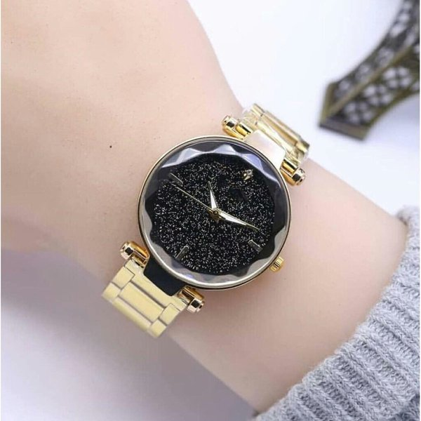 Alloy Watch Starry Sky Color Steel Band Quartz Watch Hot Selling Hot Style Luxury Gift Watch Girl 2019 New Style