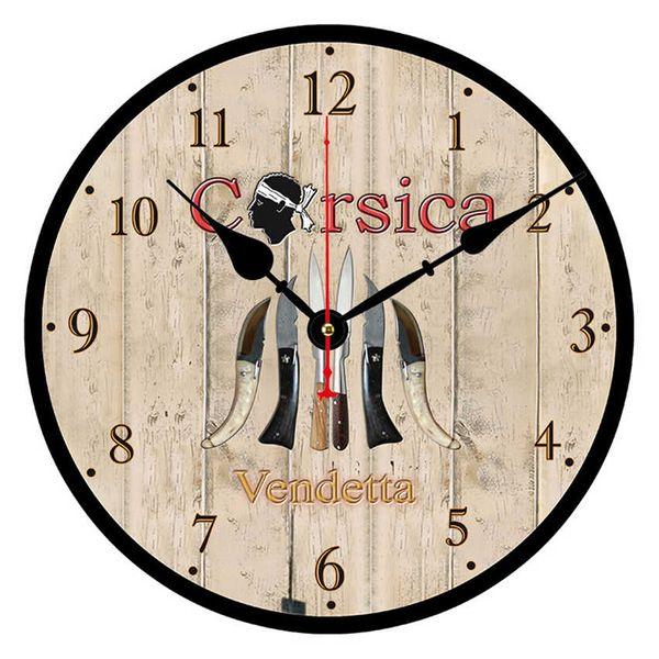 WONZOM Corsica Cutlery Modern Style Round Wall Clock For Home Office  Decoration,Silent Wooden Cardboard Clock Drop Shipping Kitchen Clocks  Modern ...