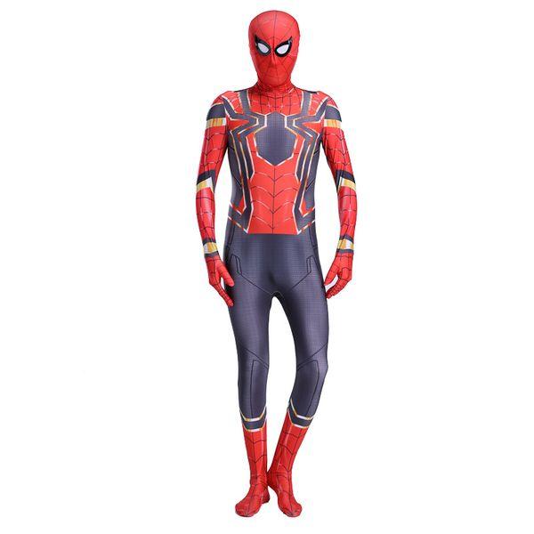Iron Spiderman Costume Spandex Cosplay Spider Man Kids Children Adult Costumes Bodysuit Suit Jumpsuit