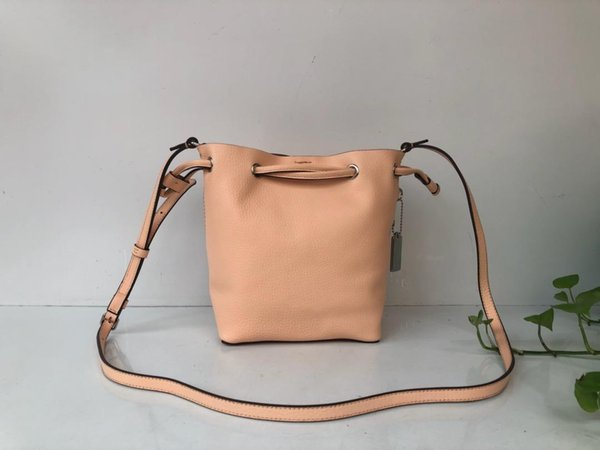 Mini Bucket Shoulder Bag Women Split Leather Messenger Bag Small Crossbody Shoulder Bucket Bag