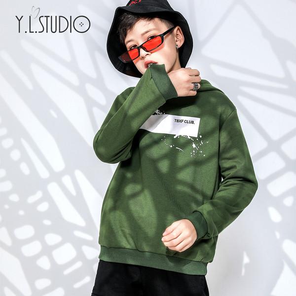 3-12Y Autumn/Winter Fashion Toddler Boy Hoodie Children Sweatshirt Back Photo Print Heavy fleece Warm Top & Outwear