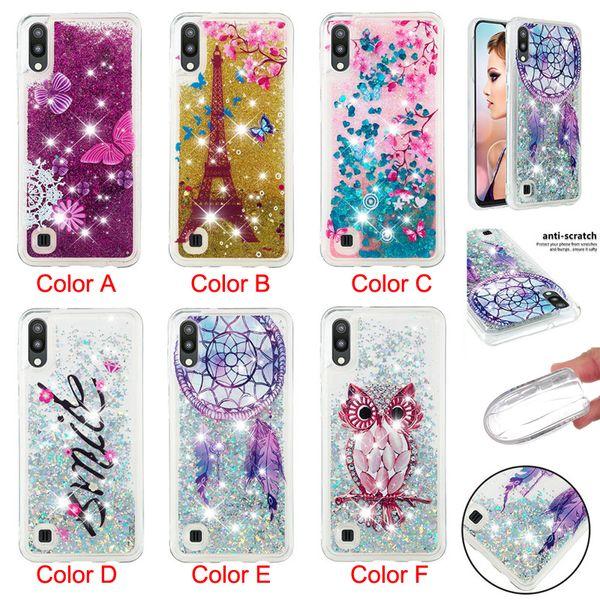 Pretty pattern Phone Silicone Cases Glitter Quicksand Back Cover for Samsung S10 S10E S10+M10 M20 J4 Plus J6 Plus Note9 S9 S8 Note8 A7 2018
