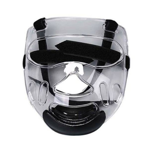 Sports Clear Plastic Face Mask Shield ABS Head Removable Taekwondo Helmet Protective Gear Sports Transparent Protective