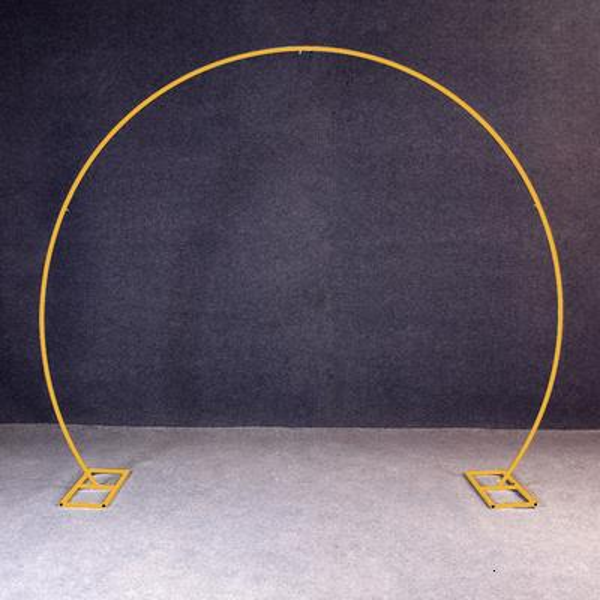 Gold round shape