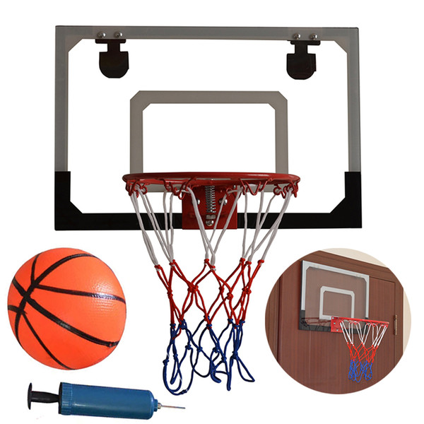 Kid Wall Mount Clear Basketball Backboard with Basketball & Pump Maximum Applicable Ball