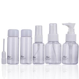Mini Plastic Transparent Bottle Small Empty Spray Bottle For Make Up Skin Care Travel Portable Press Empty Bottle 6pcs/set LJJR277