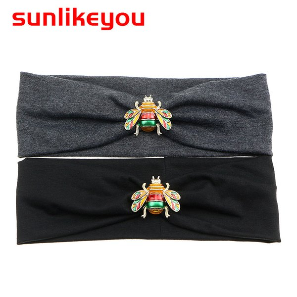 Sunlikeyou 2019 New Arrival Bandage Women Hair Accessories Hot Selling Cotton Hairband Lady's Casual Bee Headbands For Women