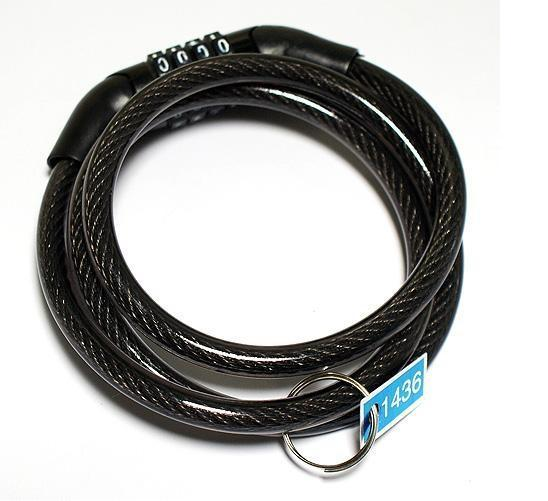 Bike Locks Bicycle Lock Bike Cable With 3 Chain Combination With 2 Keys Security