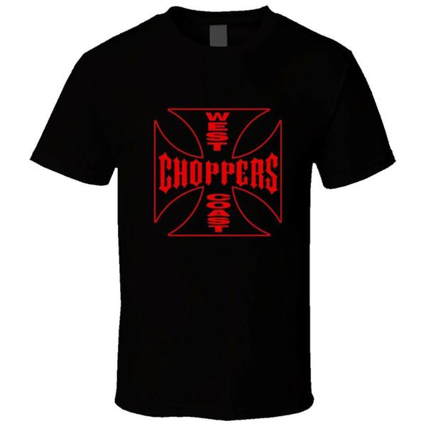 WEST COAST CHOPPERS LOGO T-Shirt Männer T-Shirt Schwarz Größe S bis 3XL Farbe Jersey Druck T-Shirt