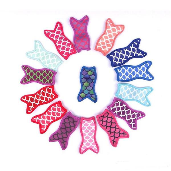 Ice Cream Stick Holders Eiscreme bearbeitet nette Mermaid Druck Sublimated Freezer Pop Popsicle Sleeves Für Kinder Sommer Kitchen Tools ST164