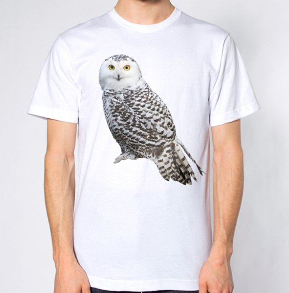 White Owl New T-Shirt Brand shirts jeans Print Classic Quality High t-shirt Style Round Style tshirt funny 100% Cotton t shirt
