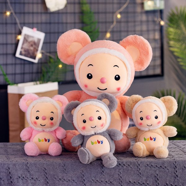 top popular Stuffed Animals cartoon Hamster plush toys stuffed 30cm 40cm dolls Kawaii stuffed animals Doll Kids toys Christmas gifts 2020