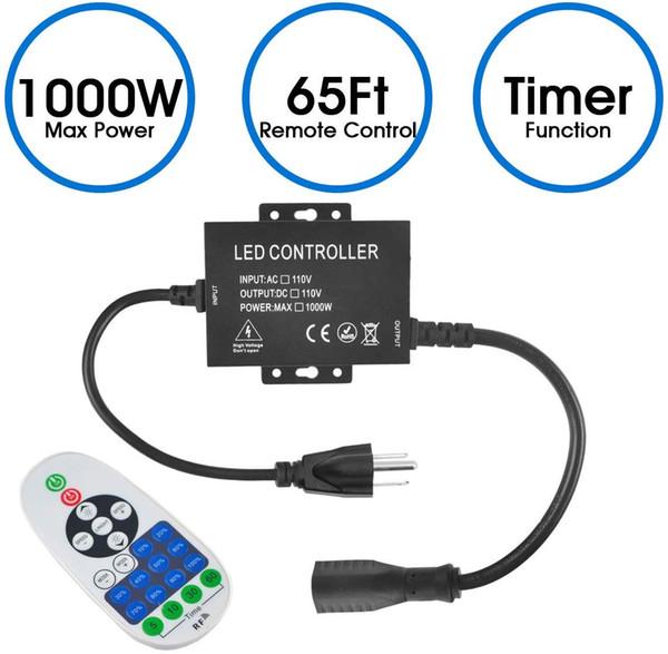 1000W 110V свет шнура дистанционного подключаемого модуля диммер, AC 110V 1000W Открытый гирлянд лампы Переключатель, беспроводной пульт дистанционного управления диммер