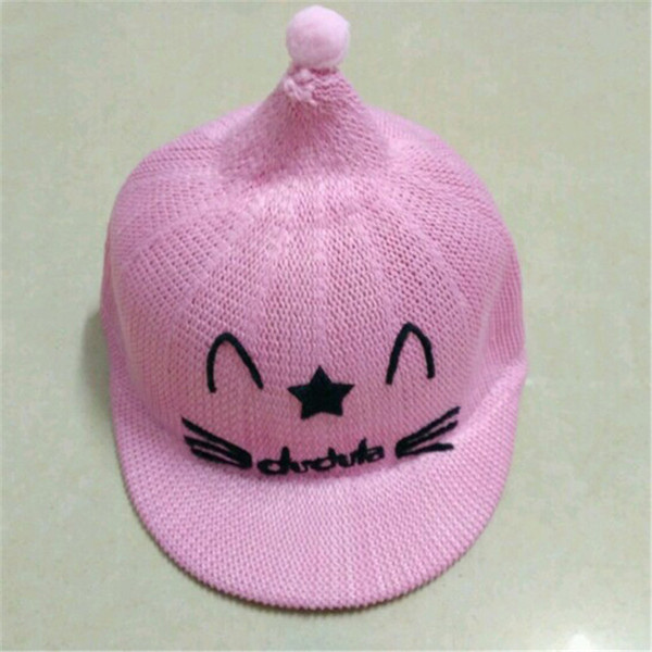 Xia Qiuji New Pattern Bambini Net Cap Cartoon Baby Cover The Sun Cappello di paglia Piccola vergine Boy Girl Hats