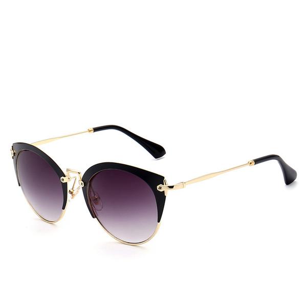 78fb74c98c3c0 ... boa qualidade grandes óculos de sol olho de gato. 2019 Hot Rodada Óculos  De Sol de Luxo Da Marca de Moda Mulheres Óculos de Alta