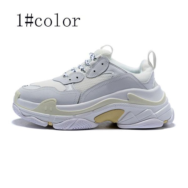 2019 New Designer Shoes Fashion Paris 17FW Triple S Sneakers top quality Casual Dad Mens Women Black white Sports Size 36-45 w5
