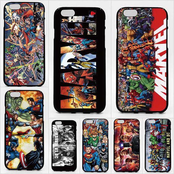 Para iPhone XS XR XS Max X 5 5S 6 6S 7 8 Estuche de impresión Patrón DC Marvel Super Hero Estuches para teléfonos de alta calidad