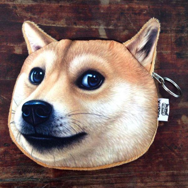 Porte-monnaie Innovant Shiba Inu Akita Chien Husky Doge Argent Mode Fille Femmes Lady Portefeuille Écouteurs Stockage Pièces Sac À Main Sacs