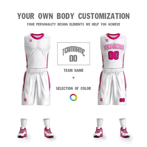 2019College tracksuit breathable and quick dry Men Personalized team basketball Jerseys sportwear Uniforms for school boy Sets