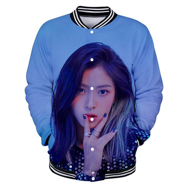 3d Baseball Jacket Itzy Kpop Fashion Hip Hop Men Women Hoodie Sweatshirt Casual Pocket Button Long Sleeve 3D Hoodies Jackets 4XL