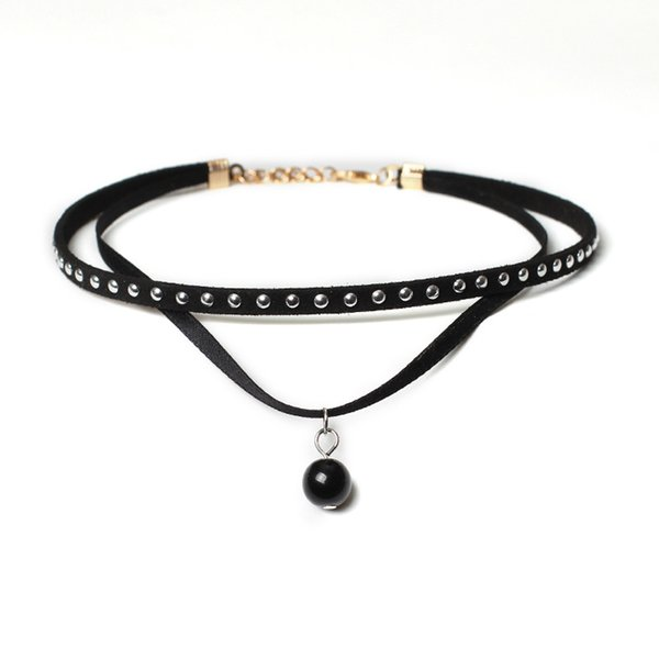 Huang Neeky #501 2018 20Pieces Choker Necklace Set Stretch Velvet Classic Gothic Tattoo Lace Choker rope chain hot Drop Shipping