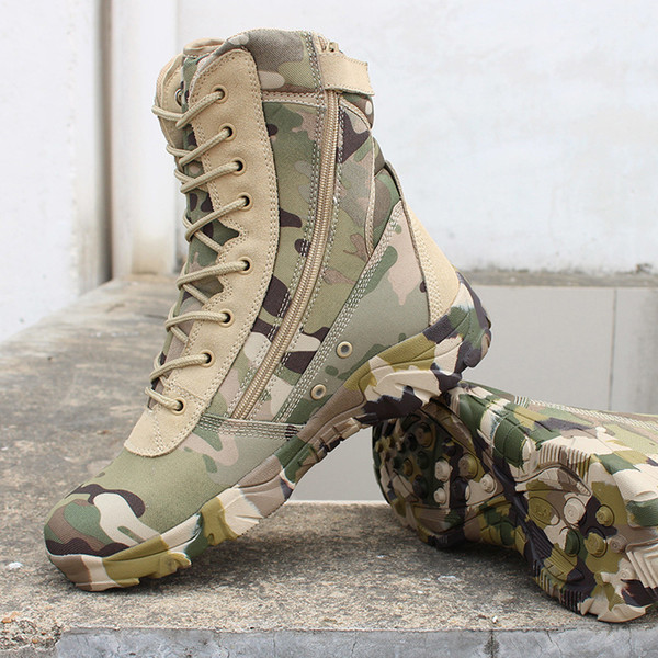 Men Military Tactical Boots Desert Combat Outdoor bot Army Hiking boots Leather Autumn Ankle