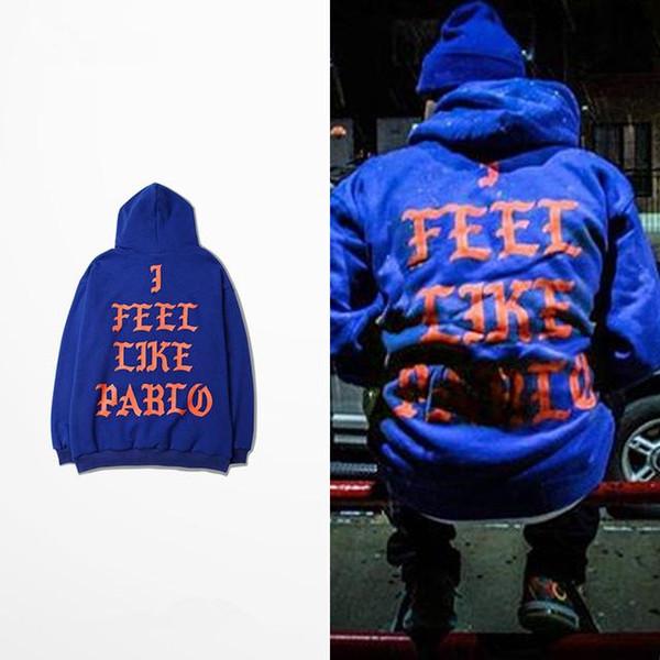 19ss Primavera Kanye West Hoodies EU SOU PABLO Moletons Com Capuz Homens Hip Hop Amante Streetwear Vermelho S-3XL