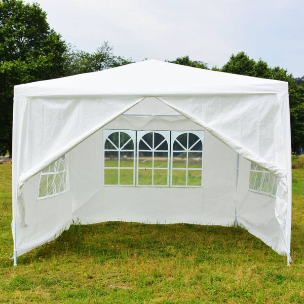3 x 3m Four Sides Portable Home Use Single Waterproof Tent with Spiral Tubes White Hot