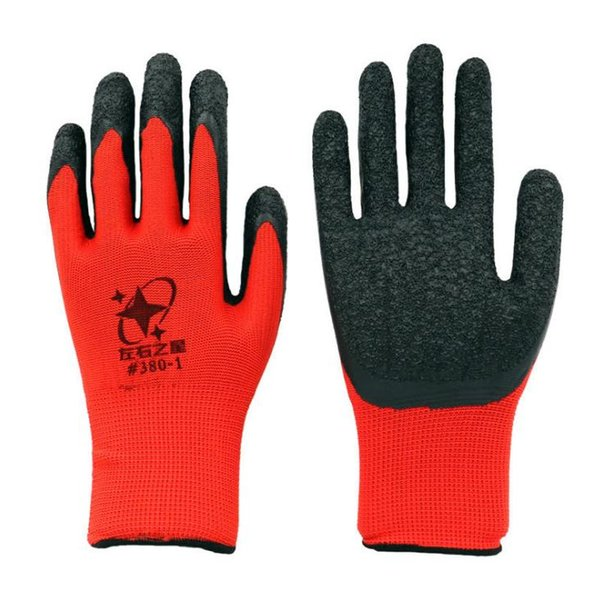 NEW Black Latex Coated Red Cotton Working Glove Gloves