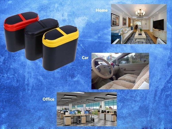 Auto Trash Can Garbage Dust Holder Box Loading And Unloading Easily Mini Home Car Own Large Volume Used In Car Home Office Free Shipping