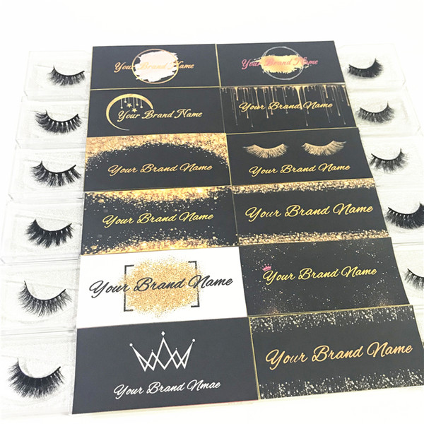 Eyelash Extension Customized Logo and Designs for Private Sticker Label (Used for Mink Lashes Natural 3D Mink Eyelashes False Lashes)