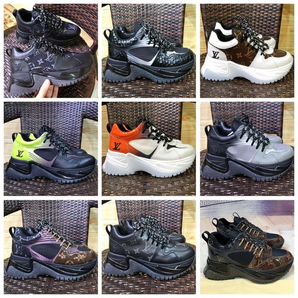 Run Away Pulse Monogram Eclipse Sneaker Moda Uomo Luxury Designer Chunky Sneakers Donna Low-Top Canvas Scarpe piattaforma in pelle con scatola