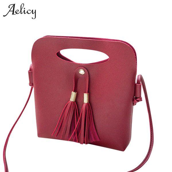 Cheap Fashion Aelicy New Tassel Bags Handbags Women Famous Brands High Quality Shoulder Bag Fashion Crossbody Bag for Women Messenger Bags