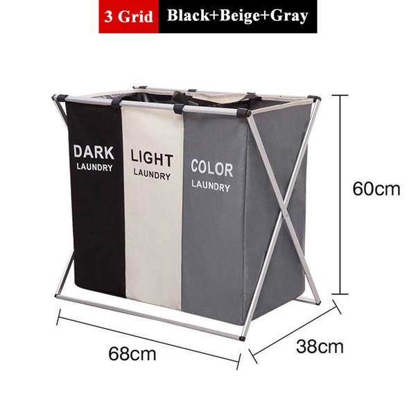 3 Grid / Black+Beige+Gray